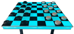 "LED 48"" Checkers / Chess Game"