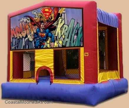 Superman Inflatable Bounce Moonwalk