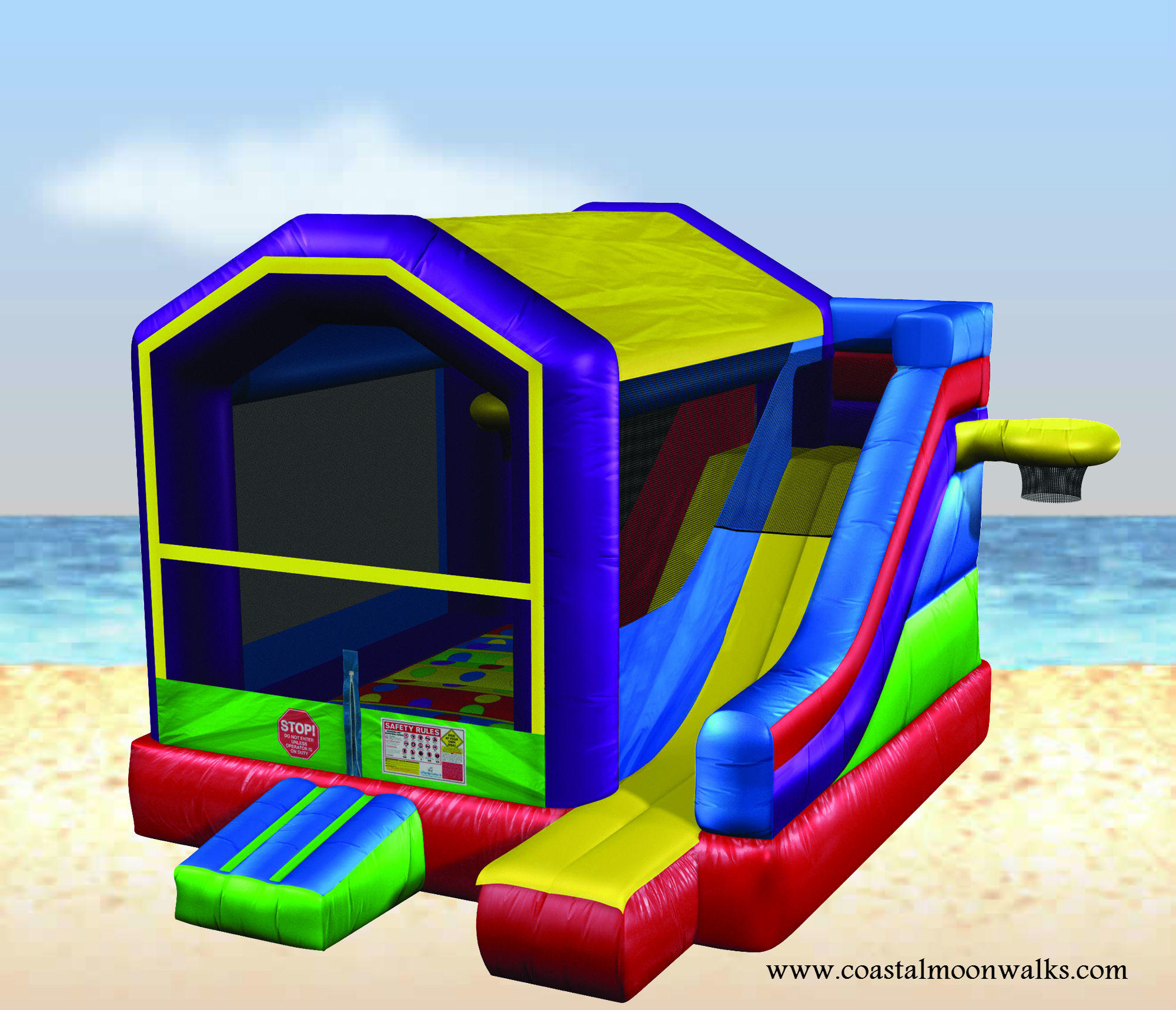picture of the wacky 5in1 bounce house combo