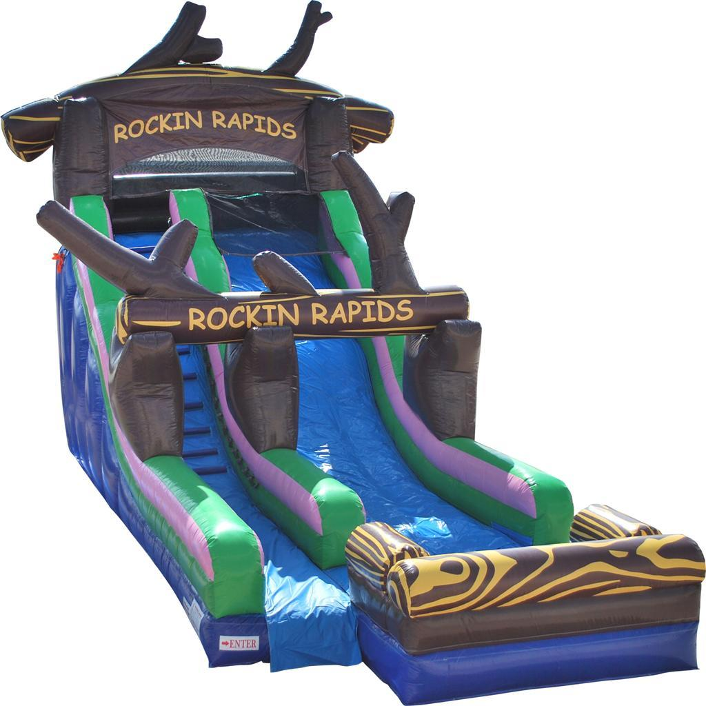 Inflatable Slide Rental Jacksonville Fl: Brand New 20 Foot Tall Rockin Rapids Water Slide With