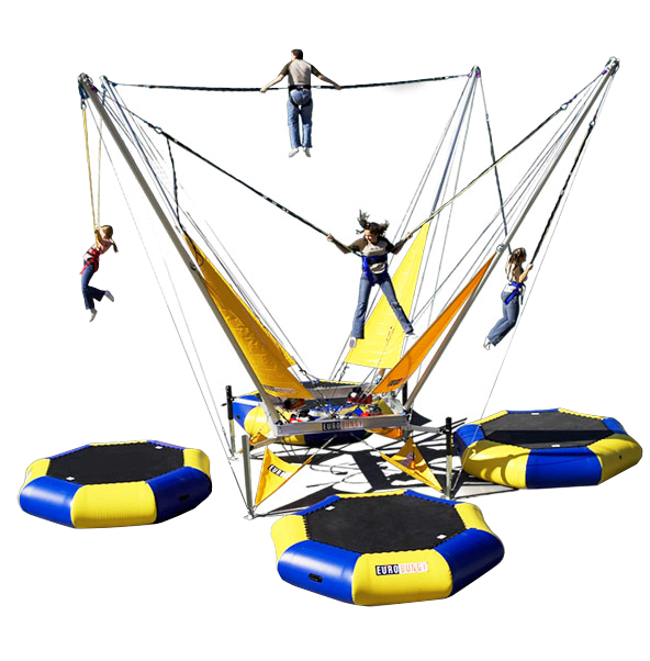 euro bungy bungee jumping trampoline rental in jacksonville florida
