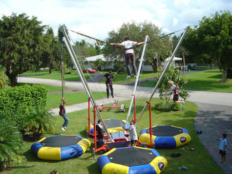 euro bungy reverse bungee jumping trampoline rental in jacksonville florida