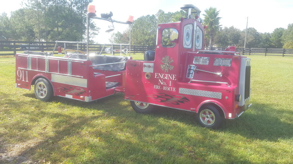 fire engine truck kiddy train event rental jacksonville florida