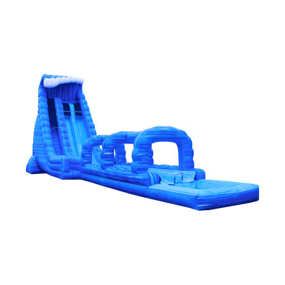 Inflatable Slide Rental Jacksonville Fl: 27 Feet Tall Dual Lane Blue Crush Water Slide With A Pool