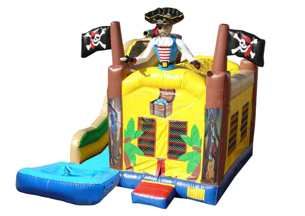 inflatable pirate theme bounce house