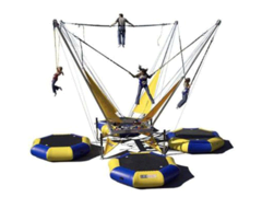 4 Person Bungee Jumping Trampoline