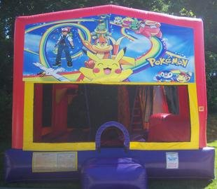 Pokemon Bounce House Slide Combo