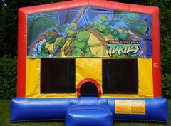 Ninja Turtle Cartoon Bounce House