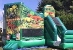 Dinosaur Bounce House Combo Slide
