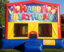 Happy Birthday Balloons Bounce House