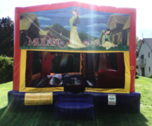 Disney Mulan Bounce House Slide Combo