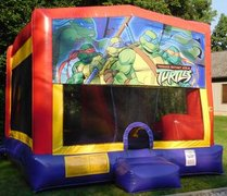 Ninja Turtle Cartoon Bounce House Slide Combo
