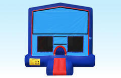 Blue Bounce House w/hoop