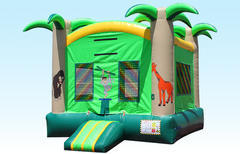 Jungle Bounce House w/hoop