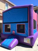 Blue and Purple Bounce House