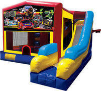 7 in 1 Race Car Combo Bounce House