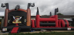Pirate Ship Bouncy with Obstacle Course