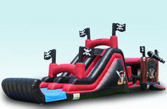 Pirate Ship Bouncy with 2-Lane Slide