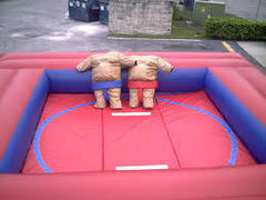 Sumo Wrestling Suits With Mat and Inflatable Ring