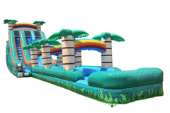 Tropical Dual Lane Waterslide with Slip n Slide