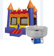 A-3 Party Package: Bounce house and Cotton Candy Machine