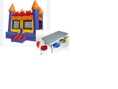 A-4 Party Package: Bounce House and 2 Kid Tables-8 Kid Chairs