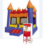 A-2 Party Package: Bounce house and Popcorn Machine