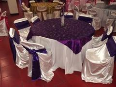 Overlay - Purple Satin with Embroidered Design