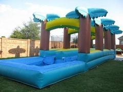 Tropical Slip and Slide with pool