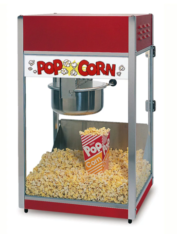 POPCORN MACHINE 8 OZ. LARGE KETTLE