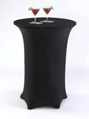 Black Spandex LINEN FOR high top table-DPR