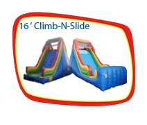16ft. Dry Climb and Slide With Stopper