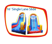 16 Foot Single Lane Slide