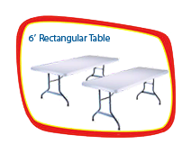 6ft. Rectangle Tables