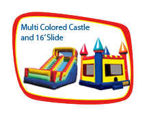 15 x 15 Castle with 16' Dry Slide