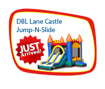 Double Lane Castl Jump-N-Slide