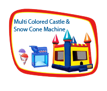 15x15 Multi-colored Castle and Snow Cone Machine
