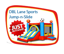 Double Lane Sports Jump-N-Slide
