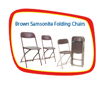 Brown Samsonite Chairs