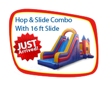 Hop & Slide Combo With 16 Foot Slide