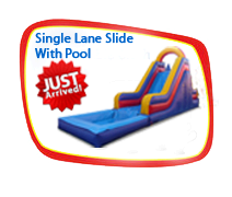 Single Lane Slide With Pool