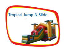 15 x 15 Tropical Jump-N-Slide