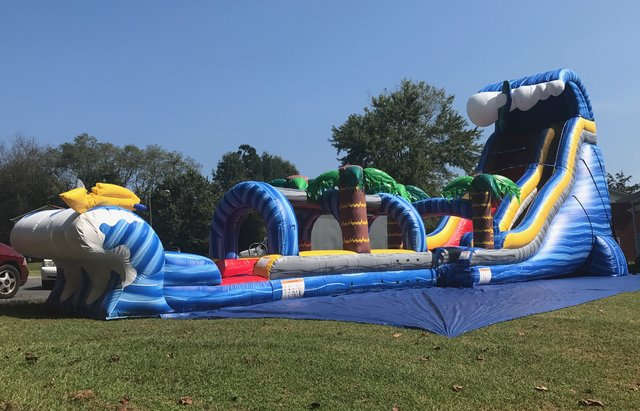 24' Shark Attack Water Slide with Slip 'n' Slide