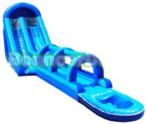 22ft Blue Crush Water and Slide combo