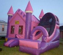 Pink Castle Bounce and Dry Slide Combo