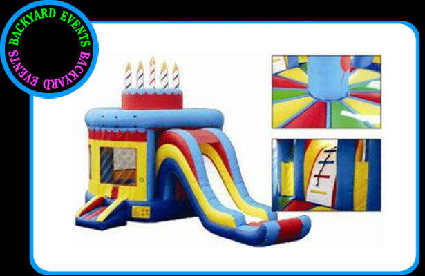 16X 20 CAKE BOUNCE & SLIDE  DISCOUNTED PRICE