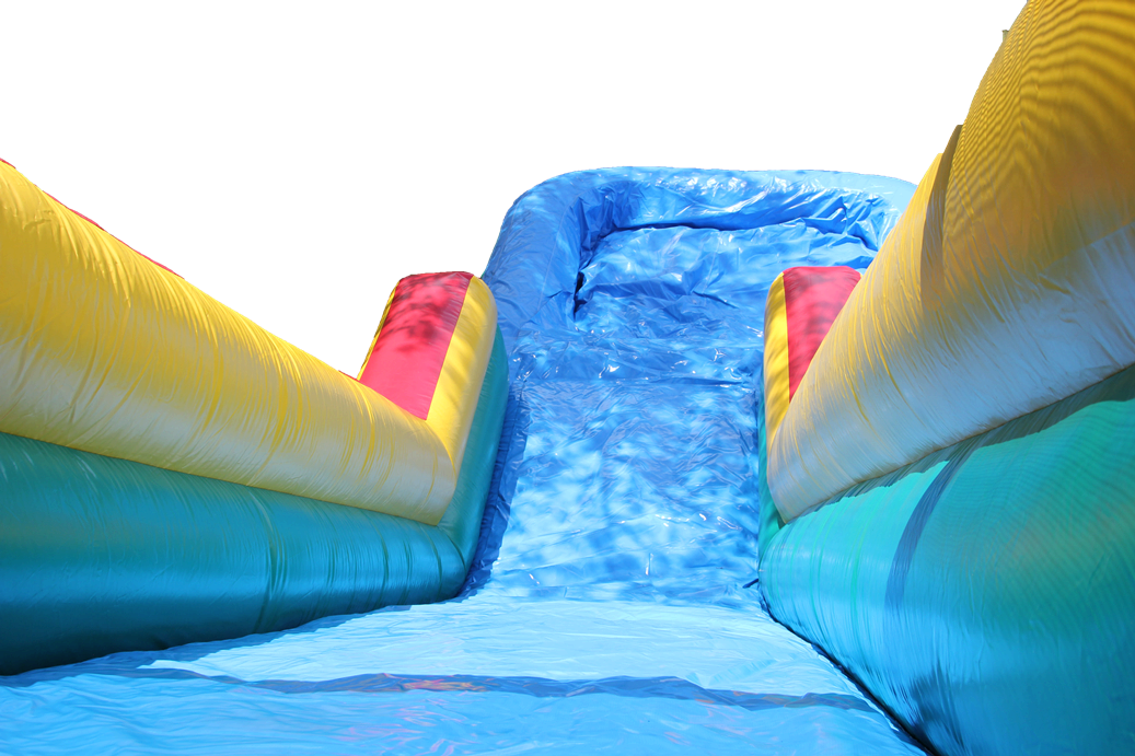18 ft Water Slide with Pool Top of Slide View