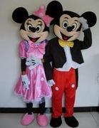Mickey Mouse and Pink Minnie Mouse