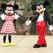 Mickey Mouse and Red Minnie Mouse