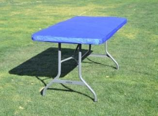Kwik Table Covers- 8ft Blue .